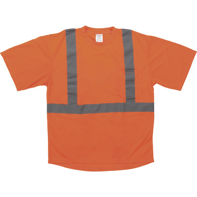 Forester Men's Class 2 High Visibility Short Sleeve T-Shirt — Orange, Large