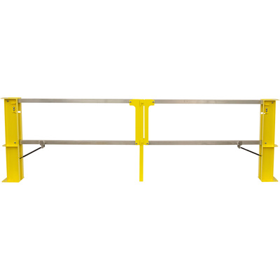 Safety Rail Company Cantilever Gate — Dual Opening, 12ft., Model# 400630