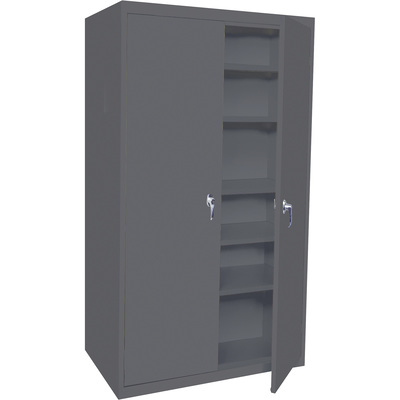 Steel Cabinets USA Storage Cabinet — Charcoal, 3 Adjustable Shelves/2 Fixed Shelves, 36in.W x 18in.D x 78in.H, Model# 5-7818-AF-CHAR