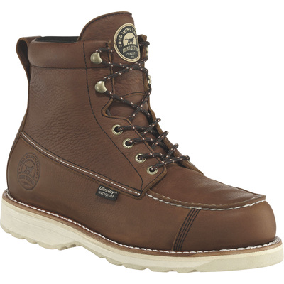 FREE SHIPPING — Irish Setter Wingshooter Men's 7in. Waterproof Moc Toe Work Boots - Amber, Size 16