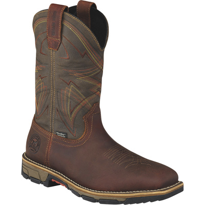 Irish Setter Marshall Men's 11in. Waterproof Steel Toe EH Pull-On Work Boots — Brown, Size 9 Wide