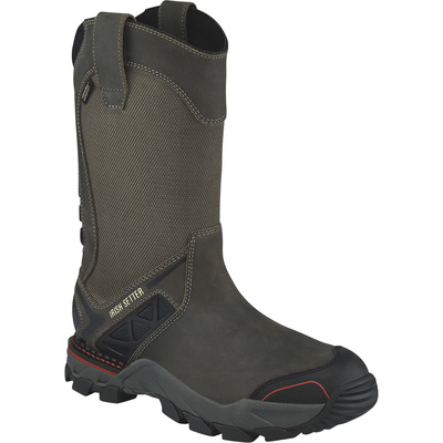 FREE SHIPPING — Irish Setter Crosby Men's 11in. Waterproof Pull-On Nano Carbon Composite Toe EH Work Boots - Black/Gray, Size 10 1/2 Wide