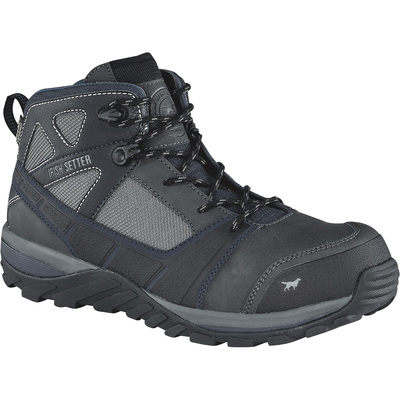 FREE SHIPPING — Irish Setter Men's Rockford 5in. Waterproof Nano-Composite Safety Toe Hiker Boots - Dark Gray/Navy, Size 11 1/2, Model# 83420D 115