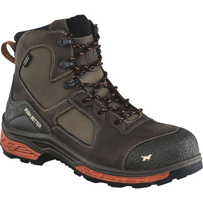 FREE SHIPPING — Irish Setter Men's Kasota 6in. Waterproof Nano-Carbon Composite Safety Toe Work Boots - Brown/Orange, Size 8 Wide, Model# 83640E2080