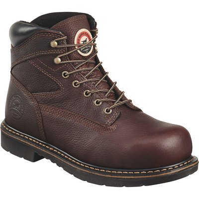 FREE SHIPPING — Irish Setter Men's Farmington 6in. King Toe Steel Toe Work Boots - Brown, Size 7, Model# 83624D 070