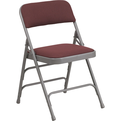 Flash Furniture Fabric Metal Folding Chair with 1in. Padded Seat, 18.75in.W x 18in.D x 30in.H