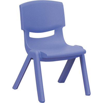 Flash Furniture Plastic Student Stack Chair, 14in.W x 12.50in.D x 20in.H