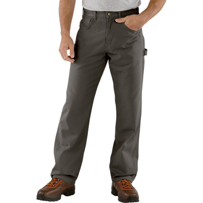 Carhartt Men's Loose Fit Canvas Carpenter Jean - Charcoal, 40in. Waist x 30in. Inseam, Regular Style, Model# B159