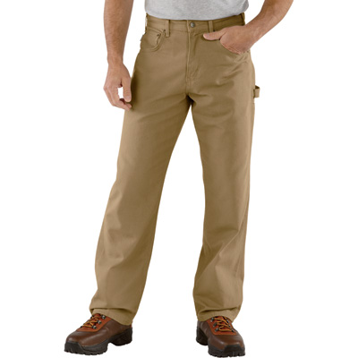 Carhartt Men's Loose Fit Canvas Carpenter Jean - Gold Khaki, 44in. Waist x 32in. Inseam, Regular Style, Model# B159