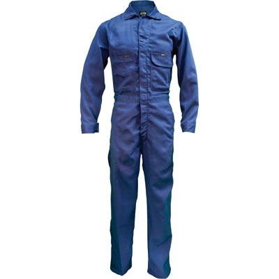 Key Flame-Resistant Contractor Coverall — Navy, 54 Short, Model# 984.41