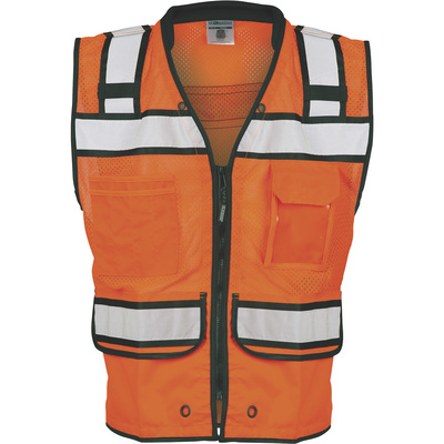 ML Kishigo Men's Class 2 High Visibility Surveyor's Vest — Model# S5004