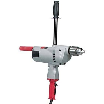 Milwaukee Corded Electric Spade Handle Drill With Pipe Handle — 3/4in. Chuck, 10.0 Amp, 350 RPM, Model# 1854-1