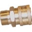 NorthStar Ball-Type Pressure Washer Quick Coupler — M22 M x 3/8in. QC-F, 4000 PSI, Brass, Model# ND10035P