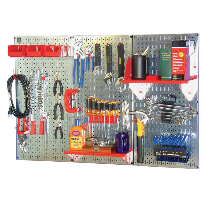 Wall Control Industrial Metal Pegboard Galvanized Metal
