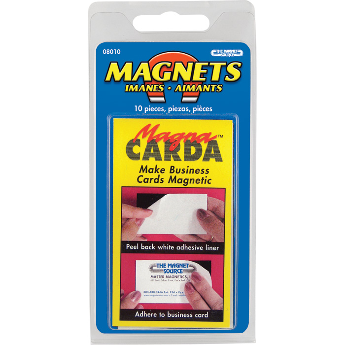 Master Magnetics Magnetic Business Cards with Adhesive — 10-Pk ...