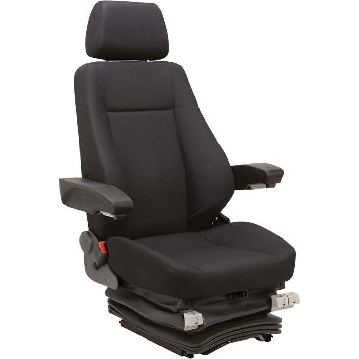 K And M Tractor Seats : K m air suspension tractor seat for excavators — black