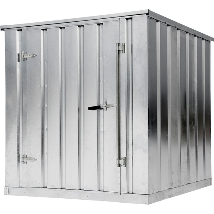 West galvanized storage building container kit 2000 lb for 10x10 shop door