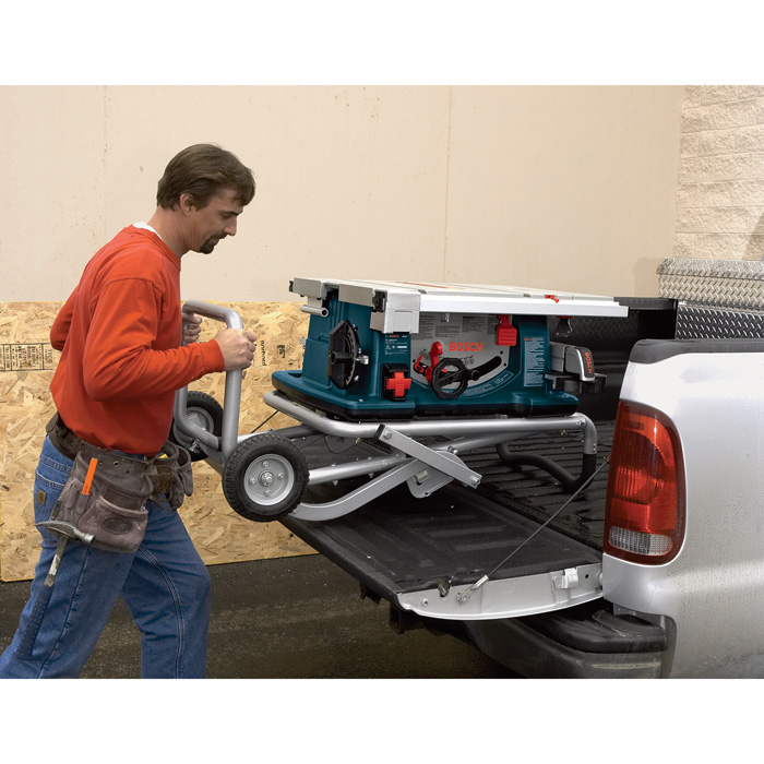 Free Shipping Bosch Jobsite Table Saw With Wheeled Stand