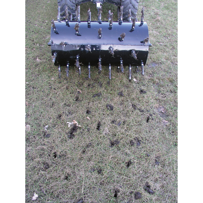 yard tuff drum plug aerator 36in w model de 36 aerators lawn rollers northern tool. Black Bedroom Furniture Sets. Home Design Ideas