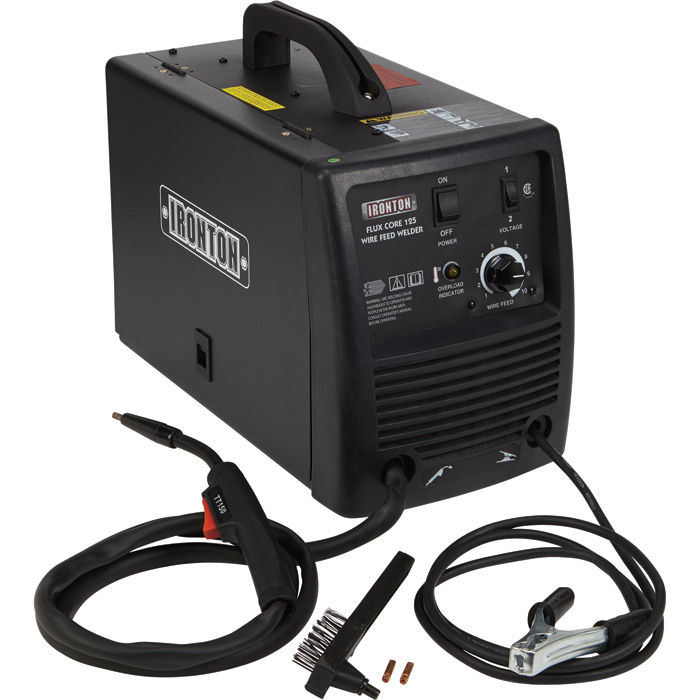 Ironton 125 flux core welder 115 volts 125 amp for Wire size for 125 amp service
