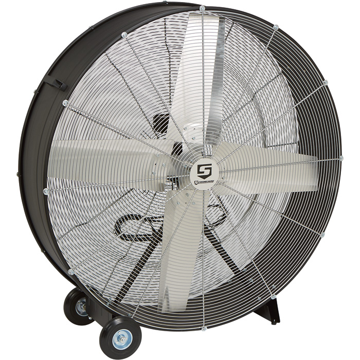 Strongway Open Motor Belt Drive Drum Fan 48inch 9 10