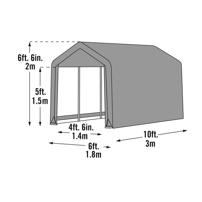 shelterlogic sport shed in a box snowmobilemotorcycle shed 10ftl x 6ftw x 6 12fth model 70403 northern tool equipment - Garden Sheds 6 X 10