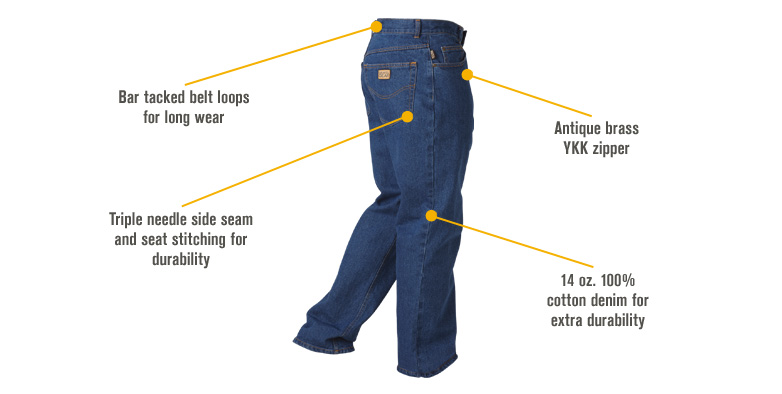 Features for FREE SHIPPING - Gravel Gear Men's Denim 5-Pocket Jeans - 42in. Waist x 32in. Inseam