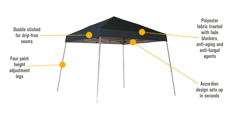 Shelterlogic Pop Up Outdoor Canopy Tent 10ft X 10ft