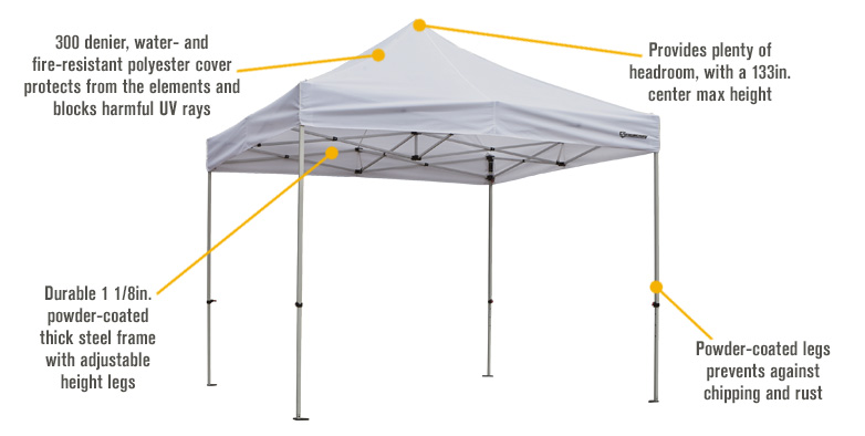 Strongway Commercial Grade Canopy 10ft X 10ft