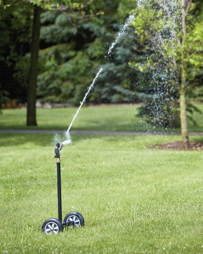 Sprinkler can reach a very wide area